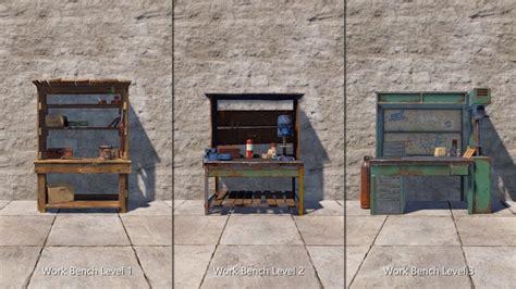 rust workbench blueprints nutshell tier bench work progression system weapons