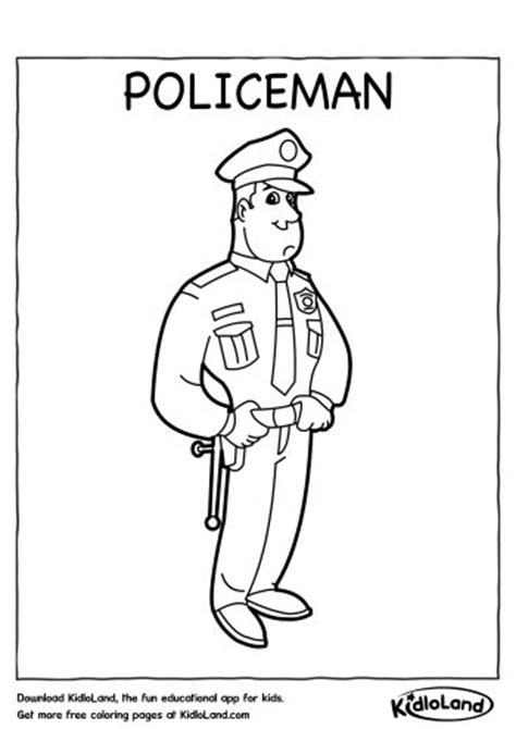 policeman coloring page  educational