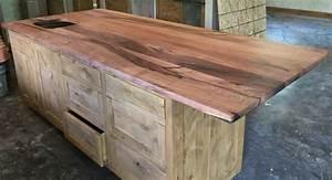 Custom wood bar top, counter tops, island tops, butcher