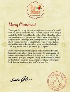 elf on the shelf letter from santa new calendar template With elf on the shelf christmas letter from santa