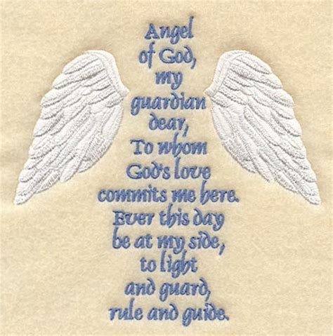 Guardian Prayer by Machine Embroidery Designs At Embroidery Library
