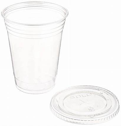 Plastic Cups Lids Oz Flat Clear Sets