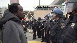 Baltimore Police clash with protesters Saturday night ...