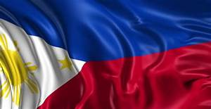 flag of philippines beautiful 3d stock footage 100