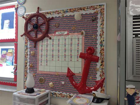 Ideas Nautical Theme by Nautical Themed Classroom Bulletin Board With Calendar