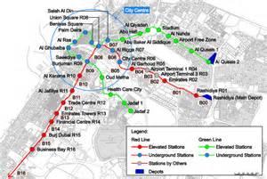 Dubai Metro Stations Map