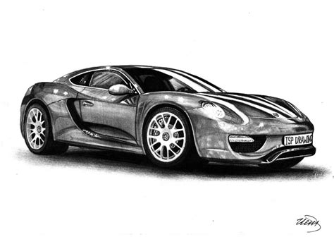 Porsche 960 2017 Realistic Drawing Supercar By