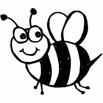 Bee Coloring Bumble Clipart Bees Honey Cartoon