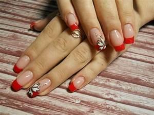 Nageldesign French Glitzer : nagel galeri katya nails french glitzer rot nageldesign bilder by world nails nailart galerie ~ Frokenaadalensverden.com Haus und Dekorationen