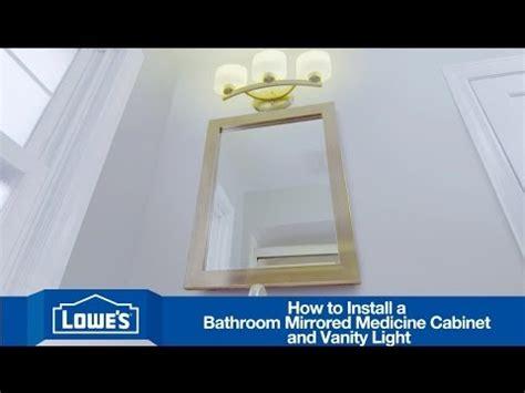 install  bathroom vanity mirror light youtube