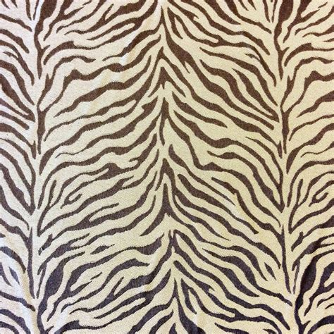 Animal Print Fabric For Upholstery by Hd39 Brown Zebra Silky Drapery Animal Print Africa