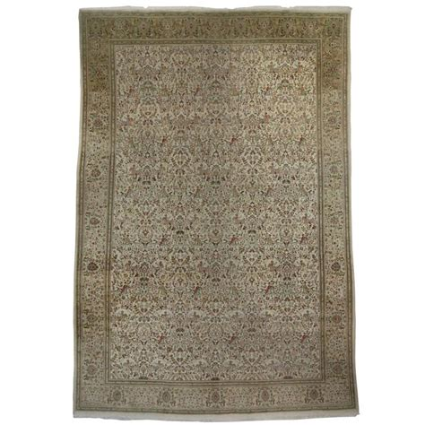 furniture rugs vintage persian tabriz gallery rug with soft neutral colors for sale at 1stdibs