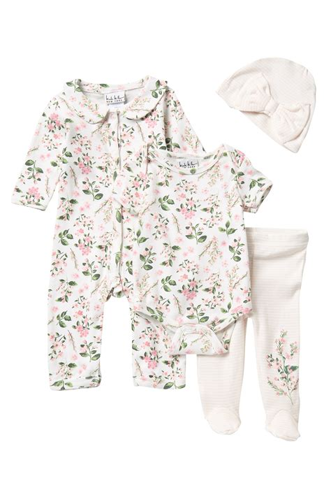 Nicole Miller 4 Piece Coverall Set Baby Girls