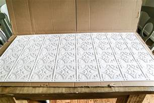 Tin Tiles For Backsplash by Diy Pressed Tin Kitchen Backsplash Bless Er House