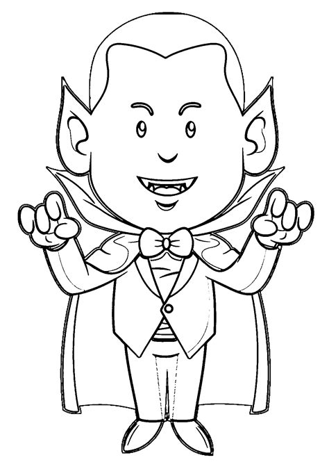 Vampire Coloring Pages Wecoloringpagecom