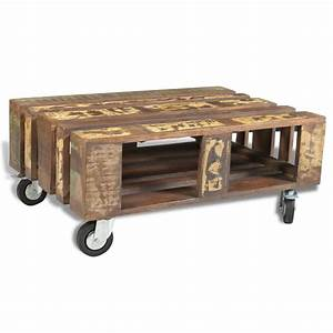 vidaxlcouk antique style reclaimed wood coffee table With reclaimed wood coffee table on wheels