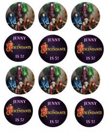 labels for party favors disney descendants birthday party invitations and