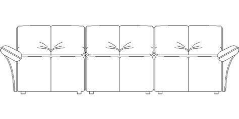 sofa 3 plazas dwg bloques autocad gratis de sof 225 de 3 plazas en alzado frontal