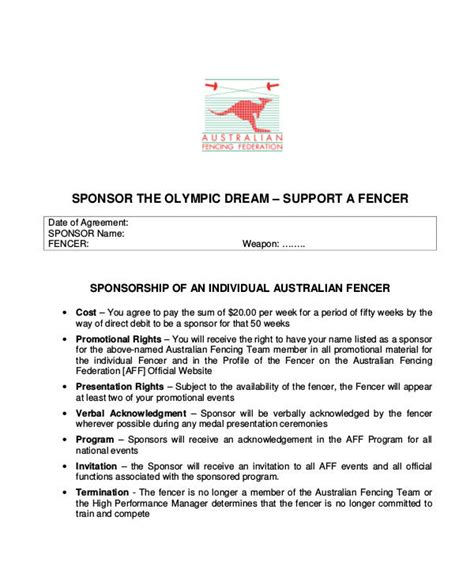 sponsorship proposal examples   ms word pages