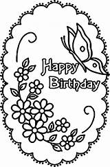 Coloring Birthday Happy Printable Adult Cards Butterfly Cake Flower Giggle Hoot Divine Unbelievable Sheets Jojo Getcolorings Rocks Hard Crafts Flowery sketch template