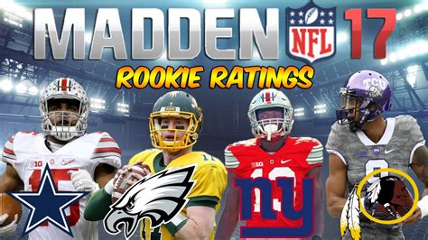 madden  rookie ratings nfc east carson wentz