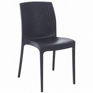 Chaise En Résine Tressée : chaise de jardin en r sine tress e boh me anthracite leroy merlin ~ Dallasstarsshop.com Idées de Décoration