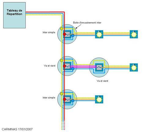 sch 233 ma du raccordement de 5 les et de 5 interrupteurs installation 233 lectriques conseils des