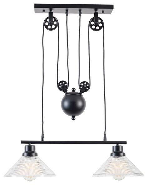 pulley pendant lights kitchen of a technica 2 light pulley island pendant 4443