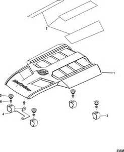 Mercruiser 496 Mag  H O  Model  Engine Cover Parts