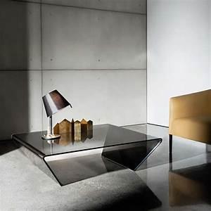 Table Basse Carrée Verre : table basse design rectangulaire ou carr e en verre rubino sovet 4 ~ Teatrodelosmanantiales.com Idées de Décoration