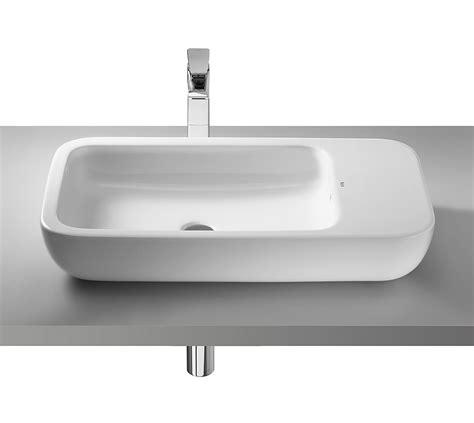 small countertop basin roca khroma countertop basin 750mm wide 327655000