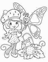 Coloring Strawberry Cake Short Shortcake Printable Popular sketch template