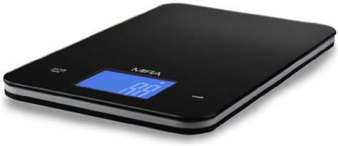 mira chefs professional digital kitchen scale black