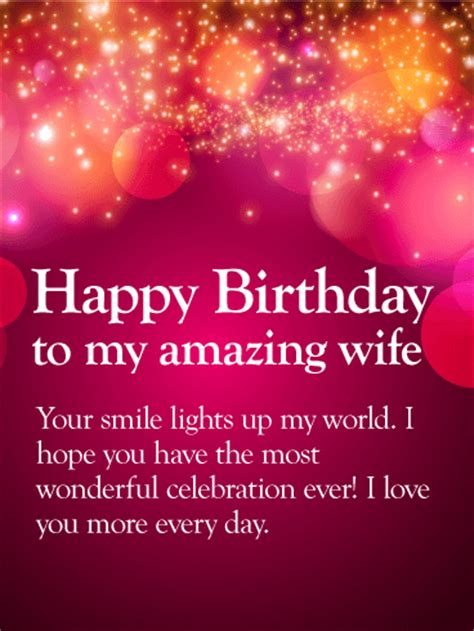 love   happy birthday wishes card  wife