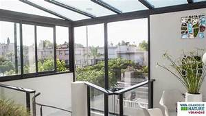 grandeur nature verandas fermeture d39une terrasse youtube With comment fermer sa terrasse