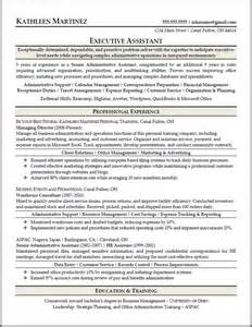 resume sles for executive assistant jobs sle resumes resume results