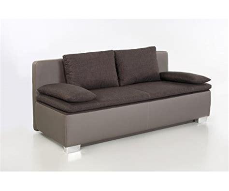 Duett Braun  Grau Schlafsofa Sofa 2sitzer Bettsofa Couch