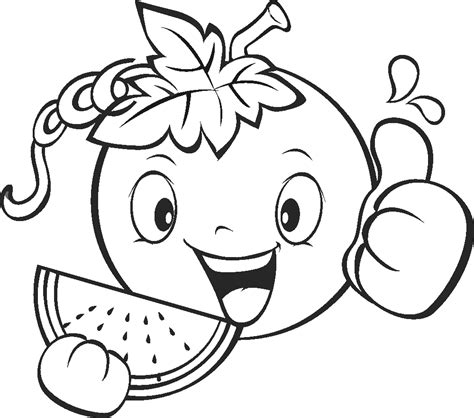 Coloring Fruit by Fruits And Vegetables Coloring Pages For Printable