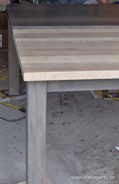 refinish   dark wood veneer table