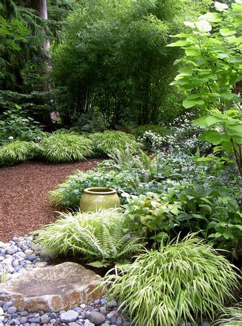 lytle road bainbridge island shaded creek contemporary landscape seattle  bliss