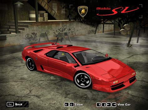 speed  wanted lamborghini diablo sv nfscars