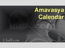 Amavasya Calender 2017, Amavasya Dates 2017