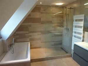 Salle De Bain Baignoire : douche et baignoire agencement sympa une salle de ~ Dailycaller-alerts.com Idées de Décoration