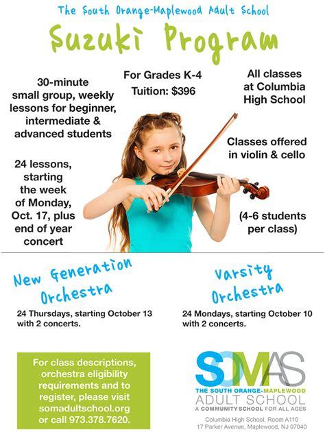 Suzuki Lessons by South Orange Maplewood School Offering Suzuki