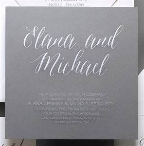 say it with style wording wedding invitations With wording for wedding invitations when bride and groom are paying