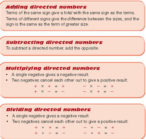 Directed Numbers Jp7numeracy