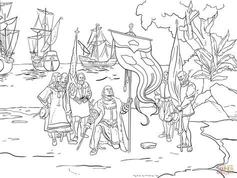 Barcos Para Colorear De Cristobal Colon by Dibujo De Desembarco De Col 243 N Para Colorear Dibujos Para