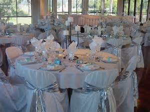 silver wedding decorations the east wedding company blue and silver