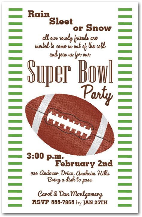 bowl invitations templates stripes and football bowl invitations
