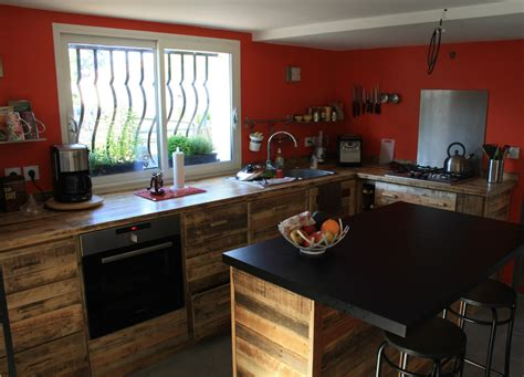 cuisine en palette cuisine touch 39 du bois